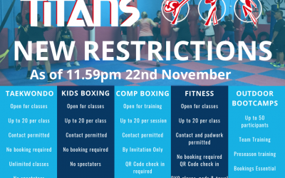 RESTRICTIONS EASE AS OF 23rd NOV