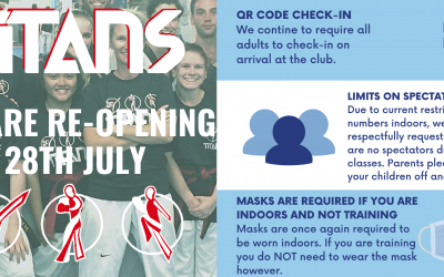Titans re-opening Wednesday 28th July